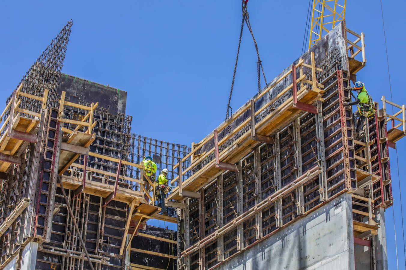 Barton Malow self-performing concrete construction on the stadium facility