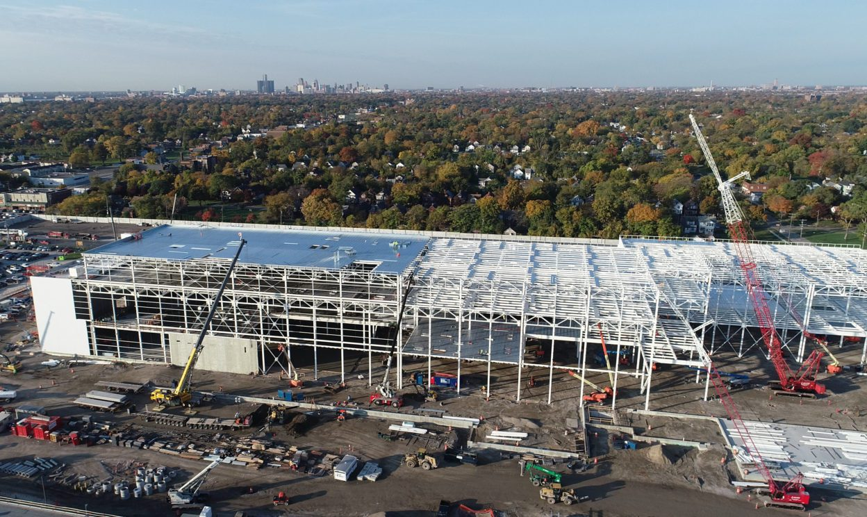 FCA Mack Paint Shop aerial view