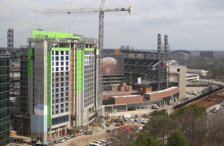 Omni hotel under construction