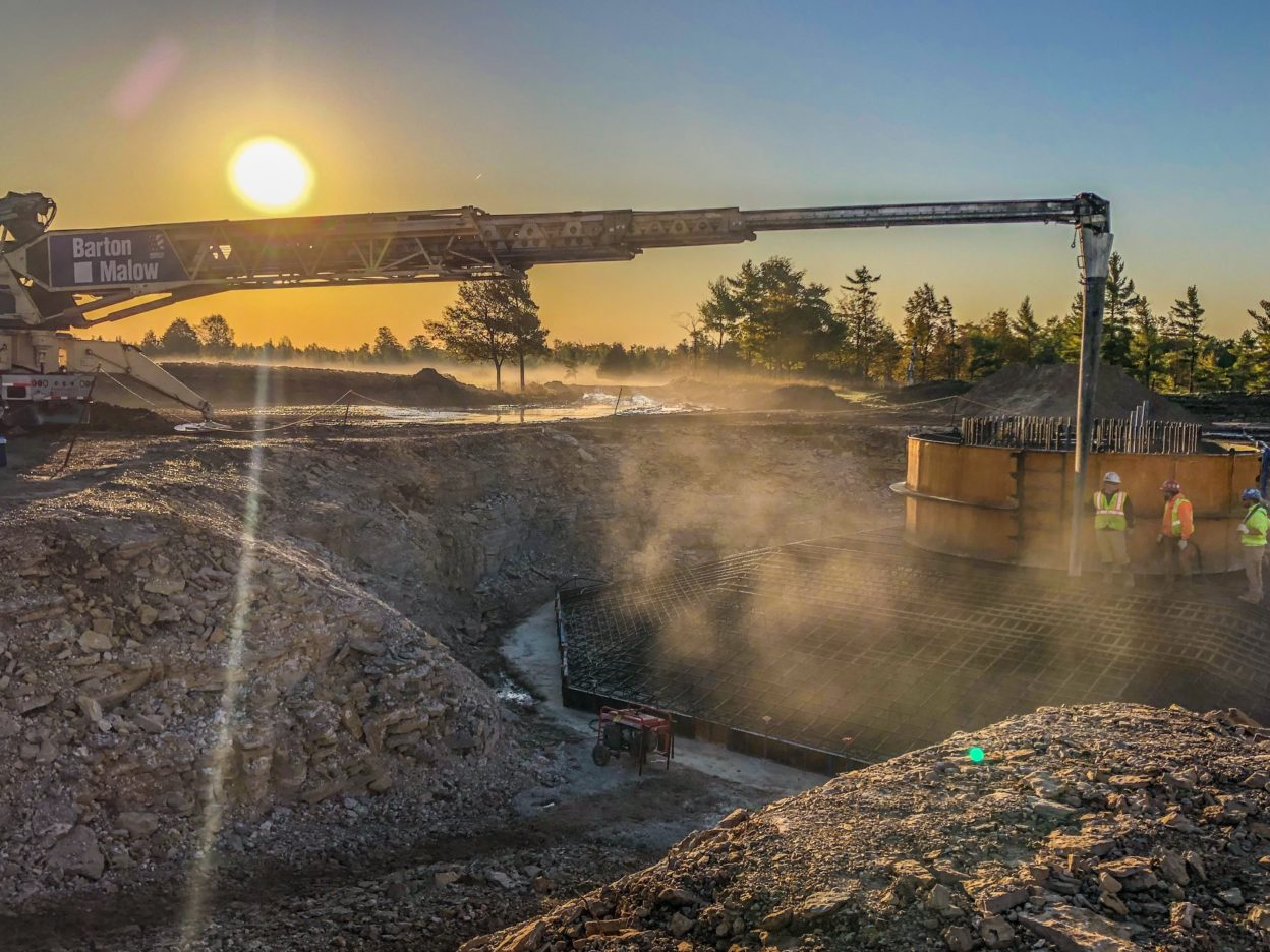 Barton Malow - Fairbanks Wind Farm - Base Foundation Placement