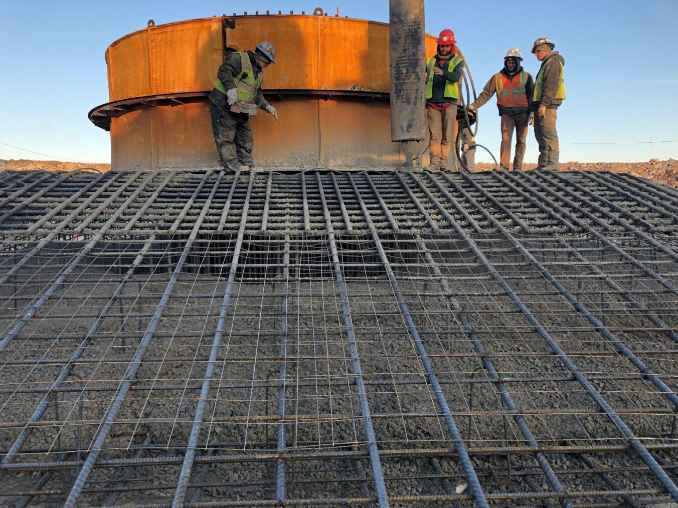 Barton Malow - Fairbanks Wind Farm Resteel-Concrete Placement