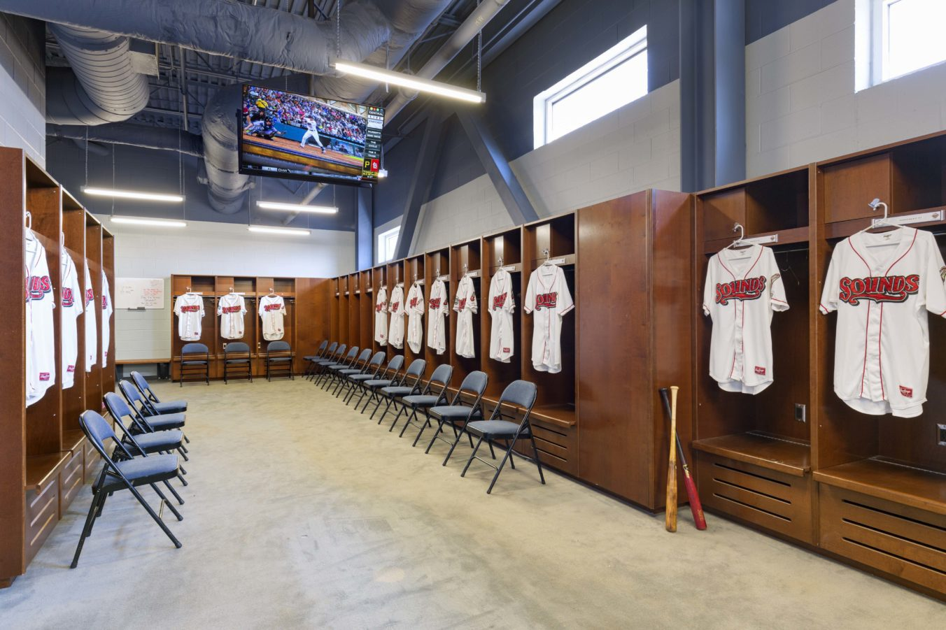 First Tennessee Ballpark, Home of Nashville Sounds - Locker Room