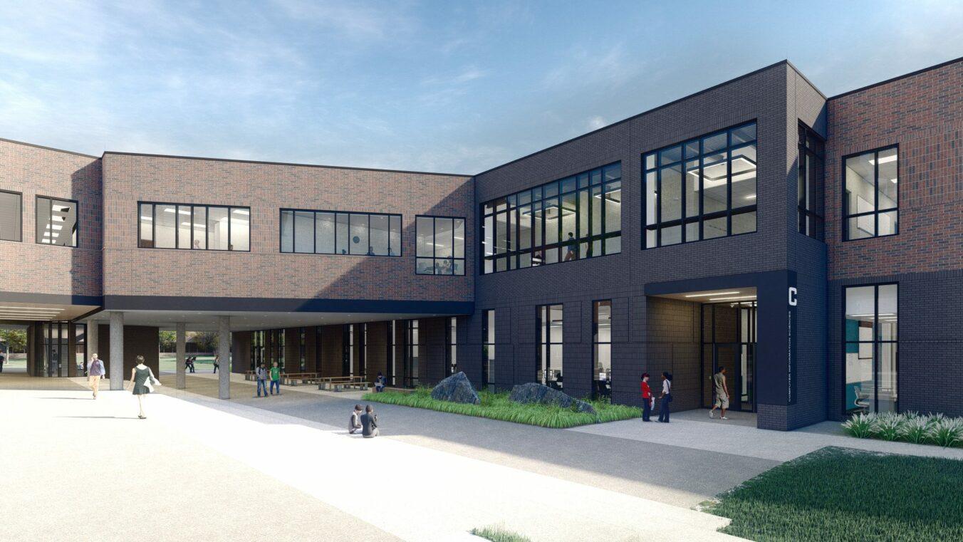 OCC Science Building CIS Entry Rendering