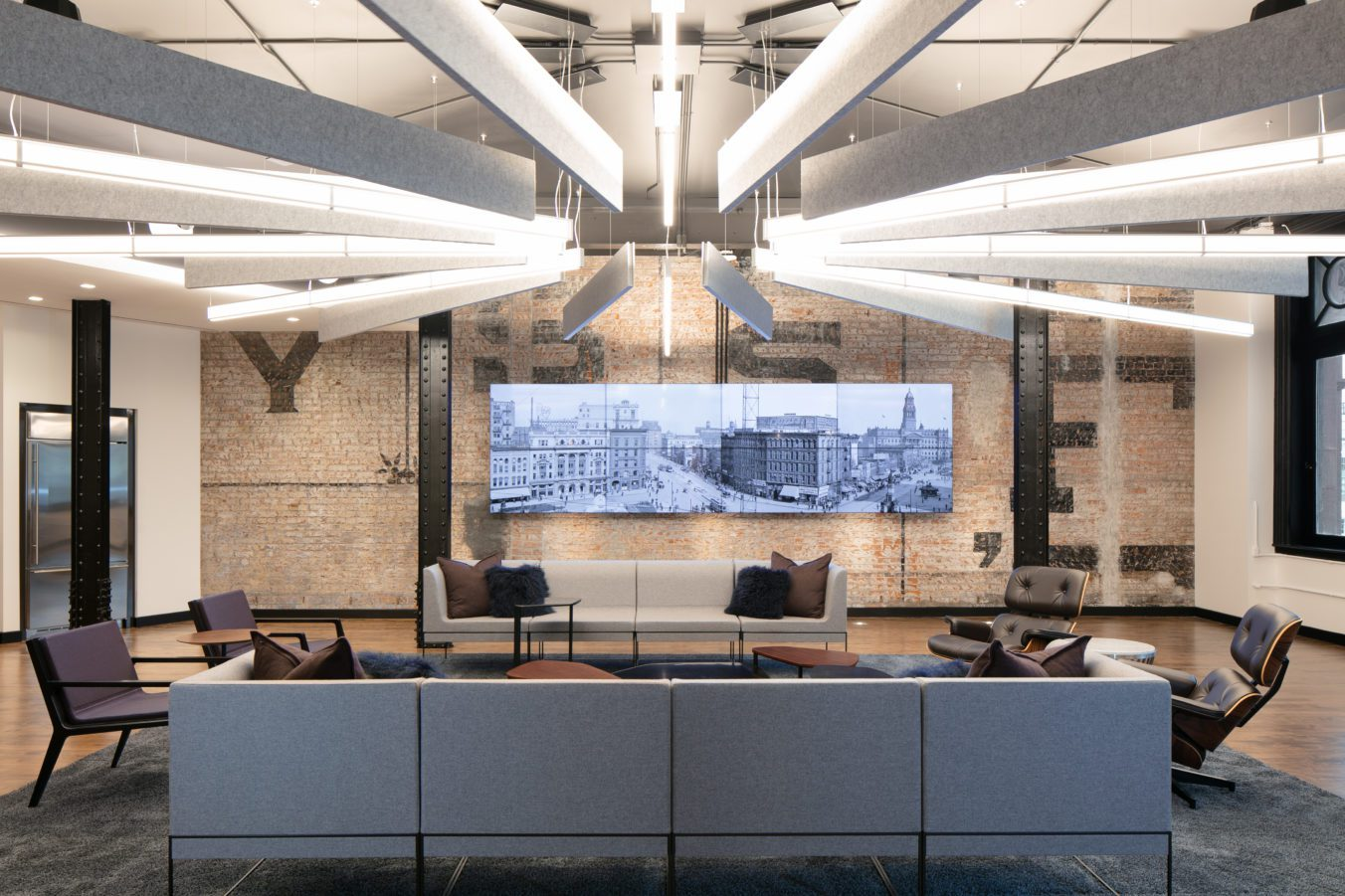 UBS Detroit Office Common Space