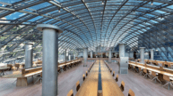 Reading tables at UC Mansueto Library