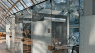 Private glass study spaces