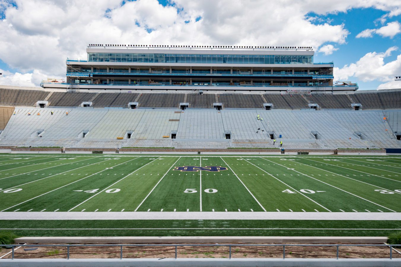 University of Notre Dame Campus Crossroads Football Field