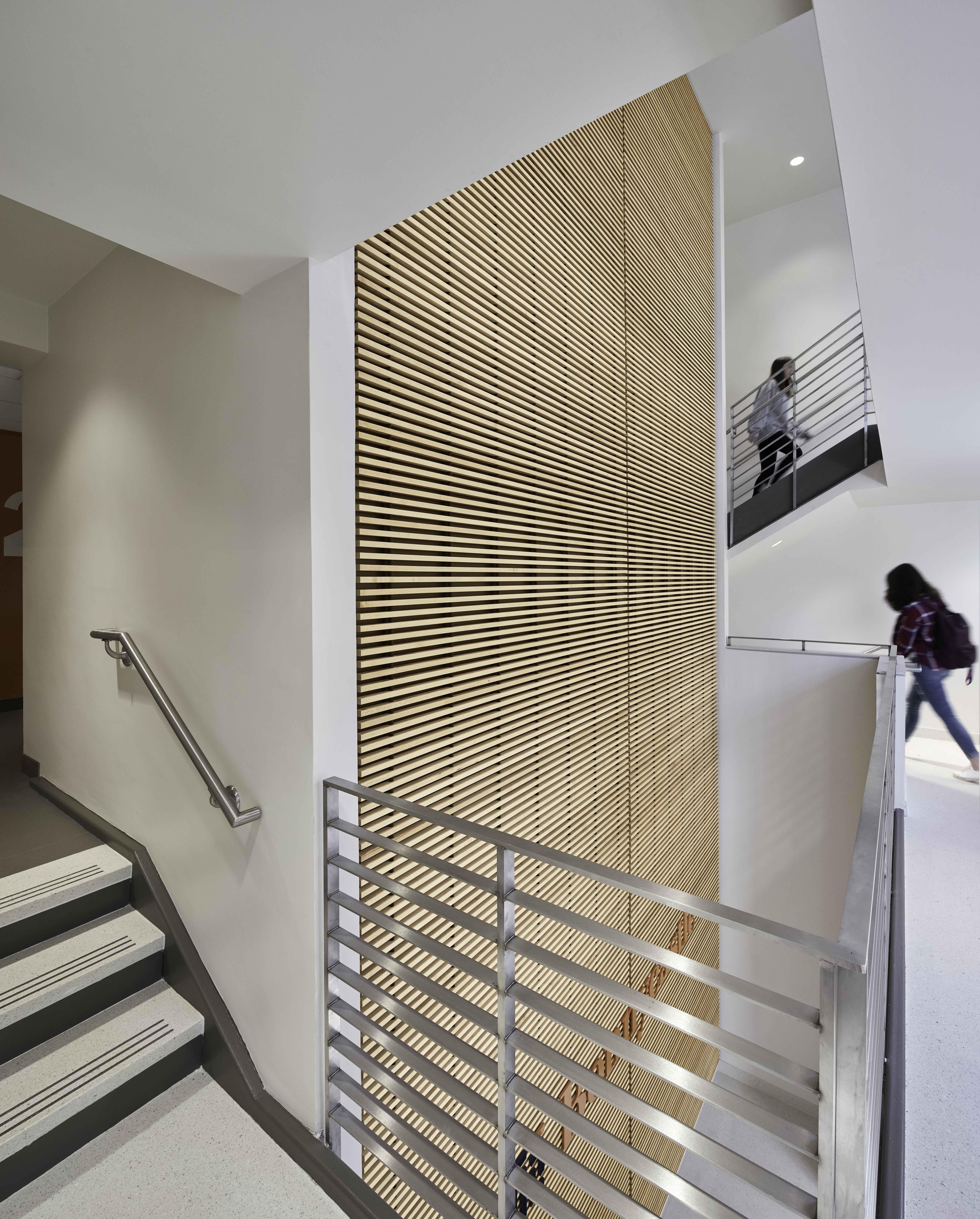 UVA McCormick Bonnycastle lobby and stairwell