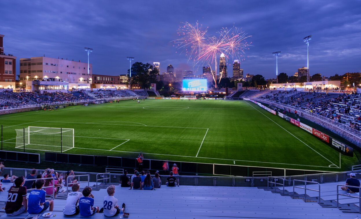 American Legion Memorial Stadium Fireworks on Opening Night