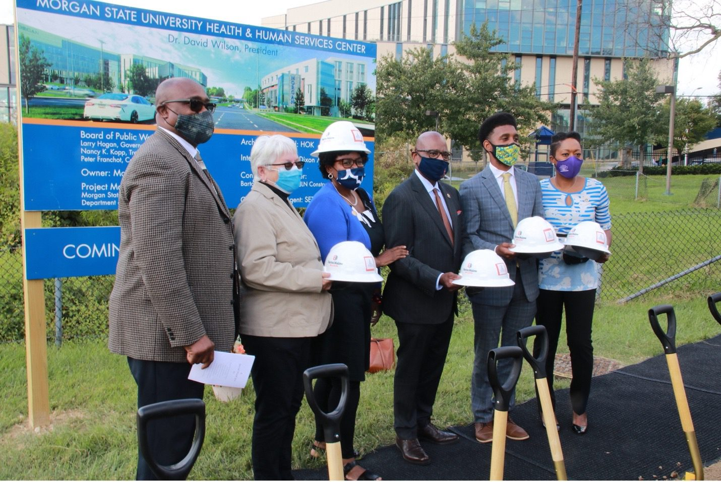 Leaders convene at Morgan State Health and Human Services groundbreaking.